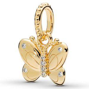 Pandora Gold Shine Butterfly Pendant Charm